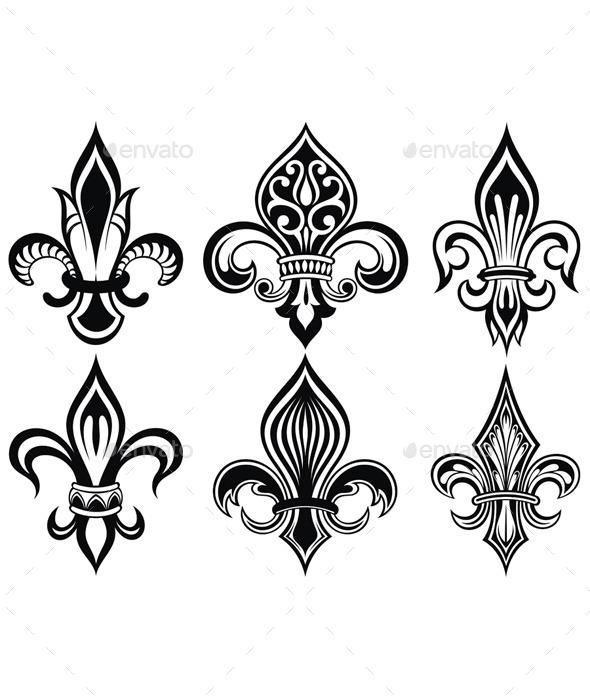 GraphicRiver Fleur de Lys Vintage Design Icons 11305832