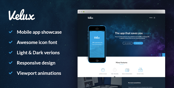 ThemeForest Velux mobile app HTML 11305838