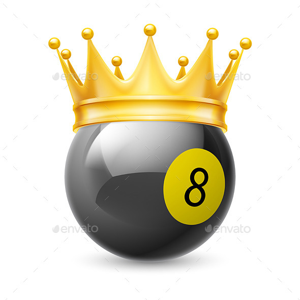 GraphicRiver Gold Crown on a Billiard Ball 11305916
