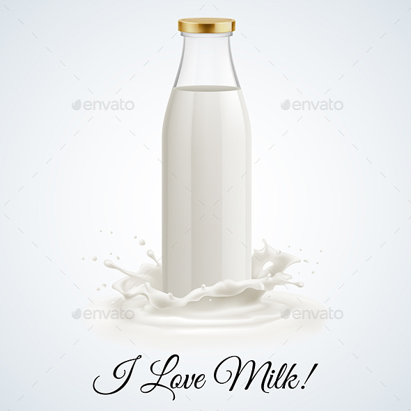 GraphicRiver Milk Bottle 11305918