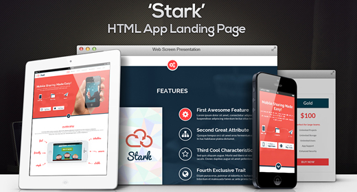 Parallax App Landing Pages