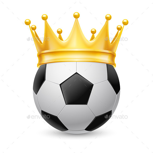 GraphicRiver Gold Crown on Soccer Ball 11305934