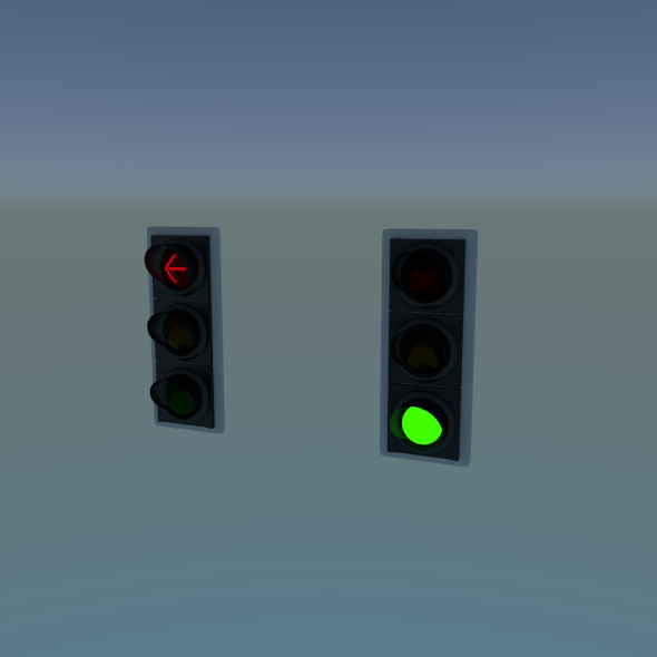 Traffic Lights - 3DOcean Item for Sale