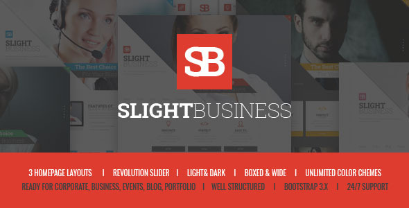 ThemeForest Slight Business Multipurpose Corporate Theme 11090814