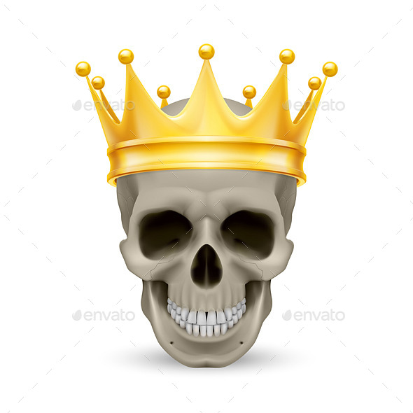 GraphicRiver Golden Crown on the Skull 11306115