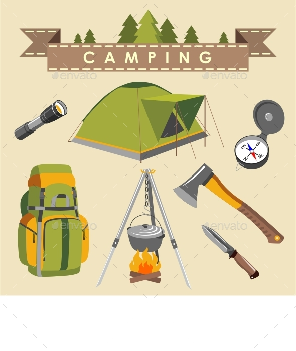 GraphicRiver Camping Set 11306137
