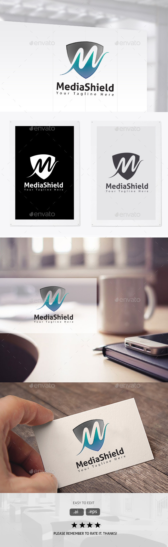 GraphicRiver Media Shield 11306266