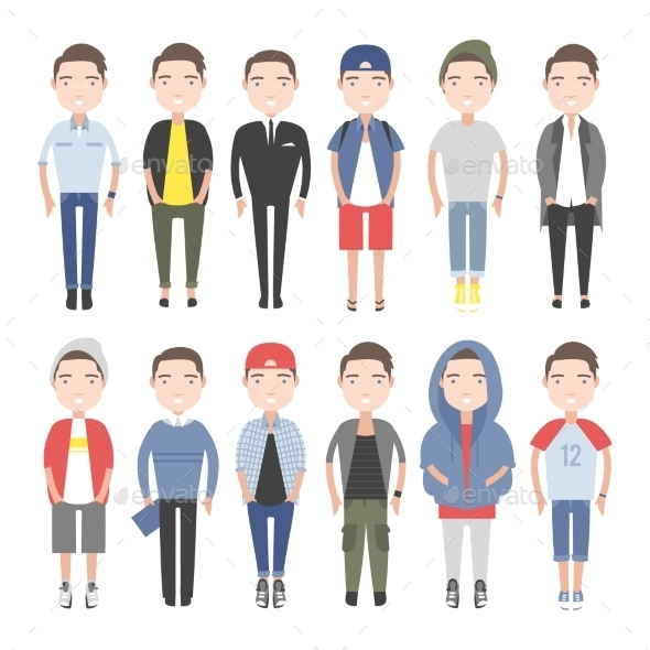 GraphicRiver Young People in Everyday Clothes 11306312