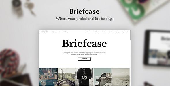 ThemeForest Briefcase Bold & Flat Portfolio 4 Designers 10245561