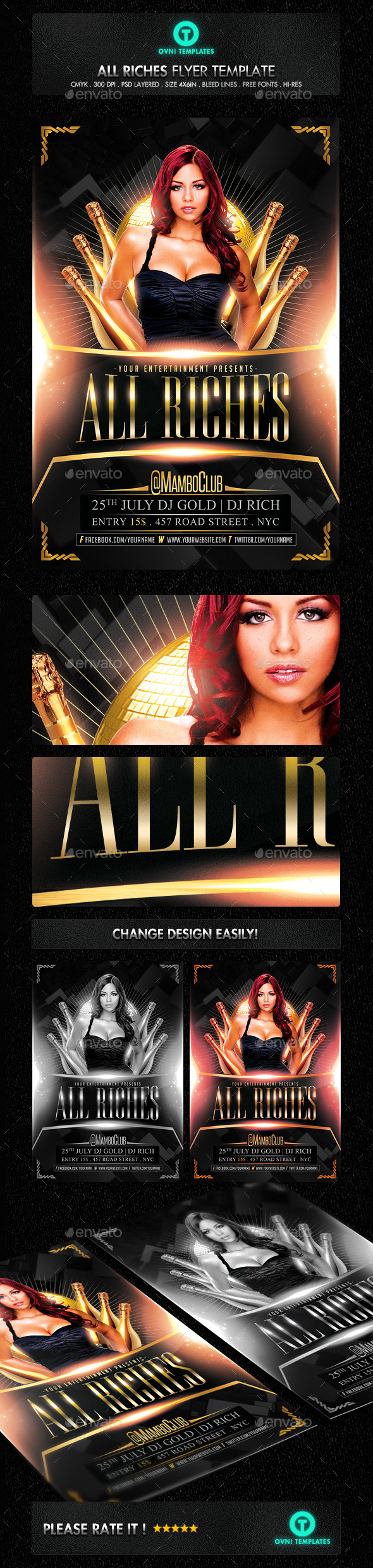 GraphicRiver Rich Gold VIP Flyer template 11306482