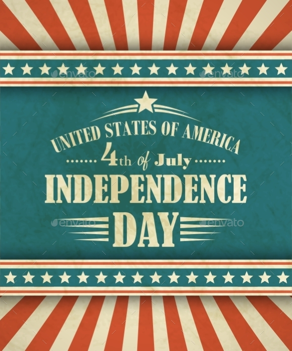 GraphicRiver Retro Typography Card Independence Day Vector 11306491