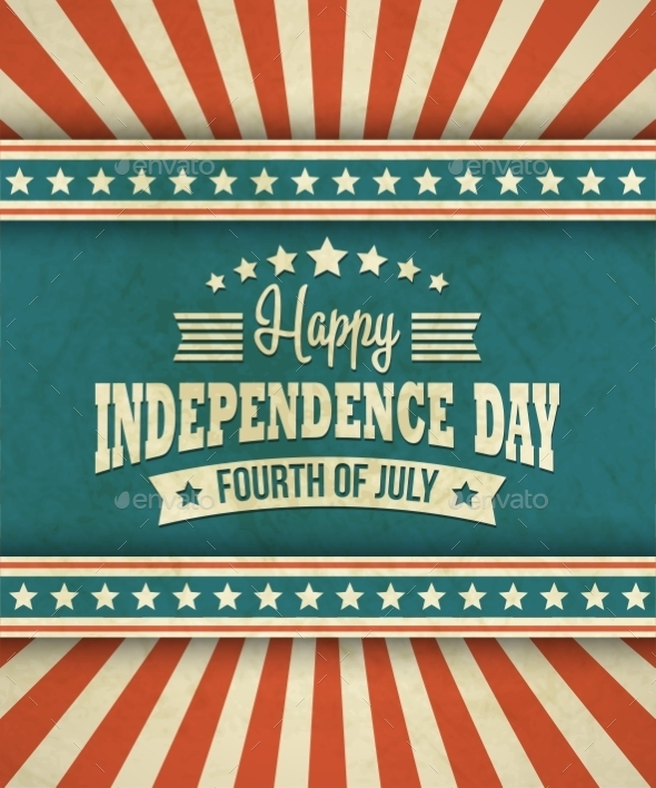 GraphicRiver Retro Typography Card Independence Day Vector 11306493
