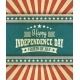 Retro Typography Card Independence Day. Vector - GraphicRiver Item for Sale