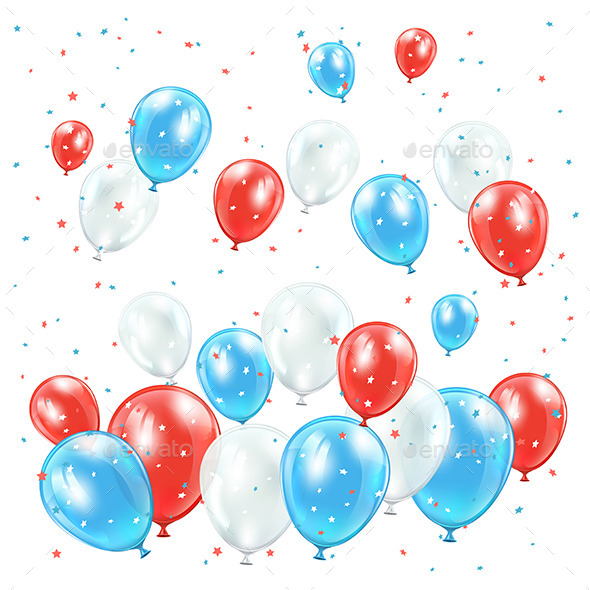 GraphicRiver Independence Day Balloons 11306543