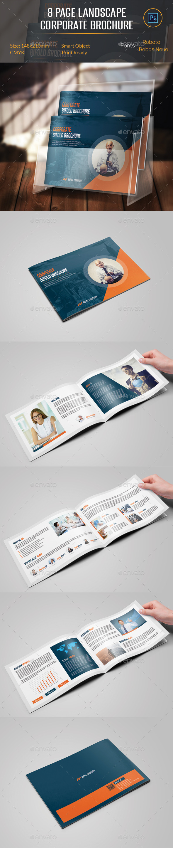 GraphicRiver 8 Pages Landscape Corporate Brochure 11306610