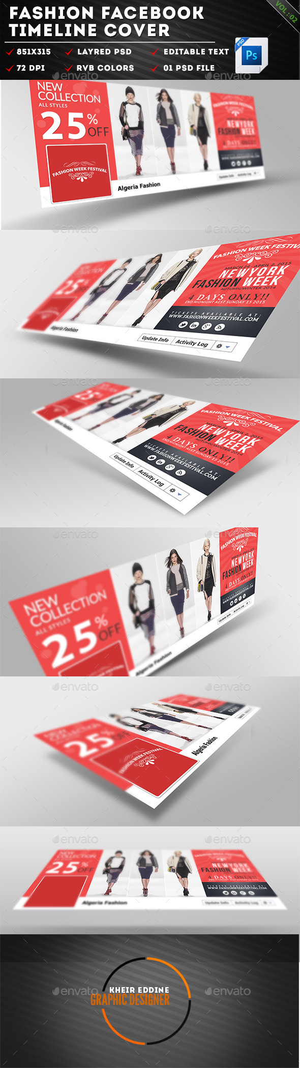 GraphicRiver Fashion Facebook Timeline Cover Vol 02 11306629