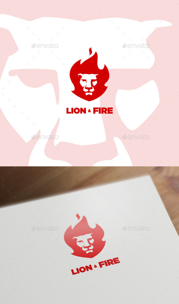 GraphicRiver Lion & Fire 11306707