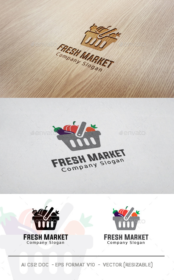 GraphicRiver Fresh Market Logo 11306798