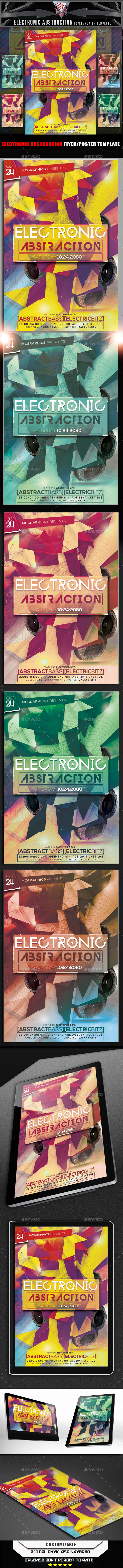 GraphicRiver Electronic Abstraction Flyer Template 11269368