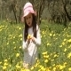 Girl in Forest With Yellow Flowers - VideoHive Item for Sale