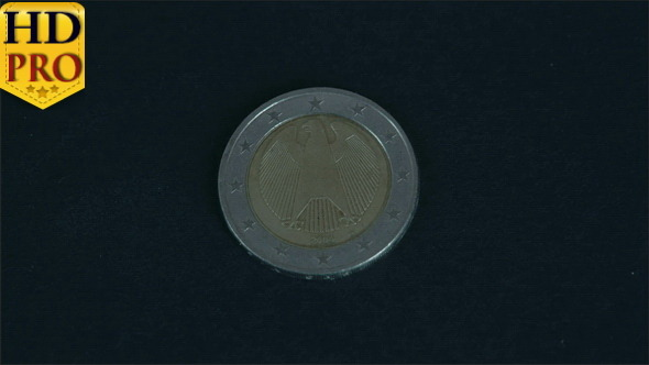 The Back Detail of a German Euro Coin