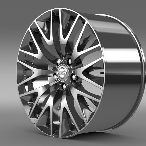 3DOcean Nissan Cima Hybrid rim 11307183