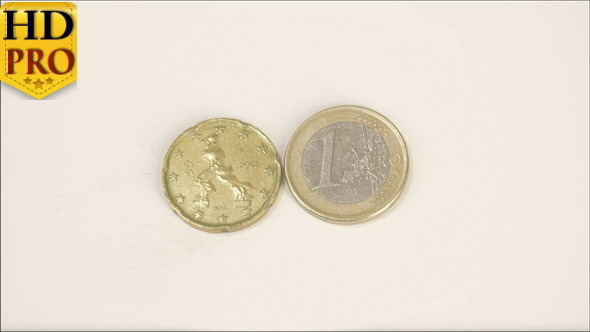A Bumpy Sided Italy Coin and a 1 Euro Coin