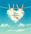 Holiday mother day background with cloud on rope - PhotoDune Item for Sale