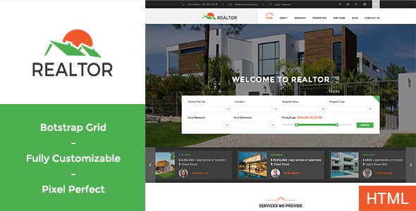 ThemeForest Realtor Real Estate HTML Template 11307292