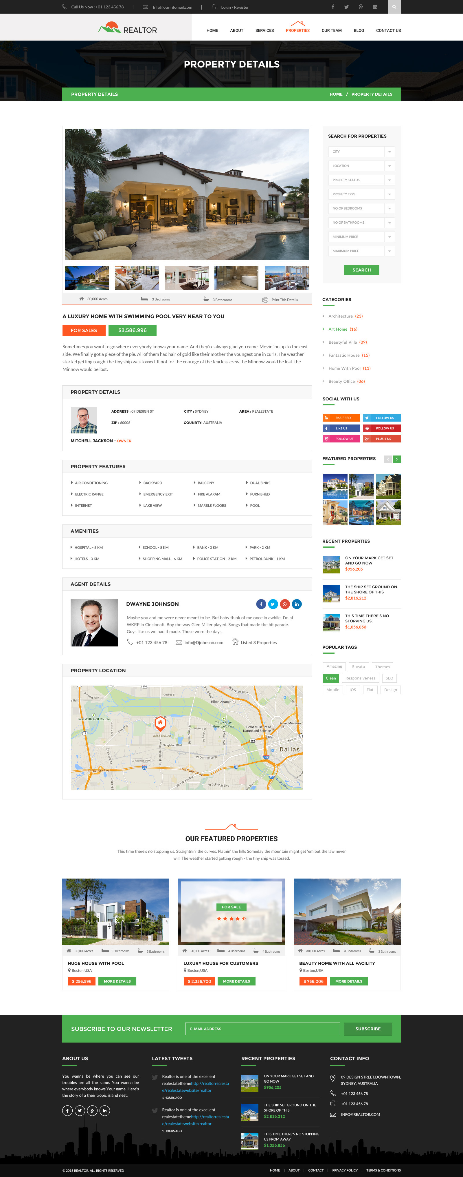 realtor real estate html template by wpmines themeforest screenshots 09 property details jpg