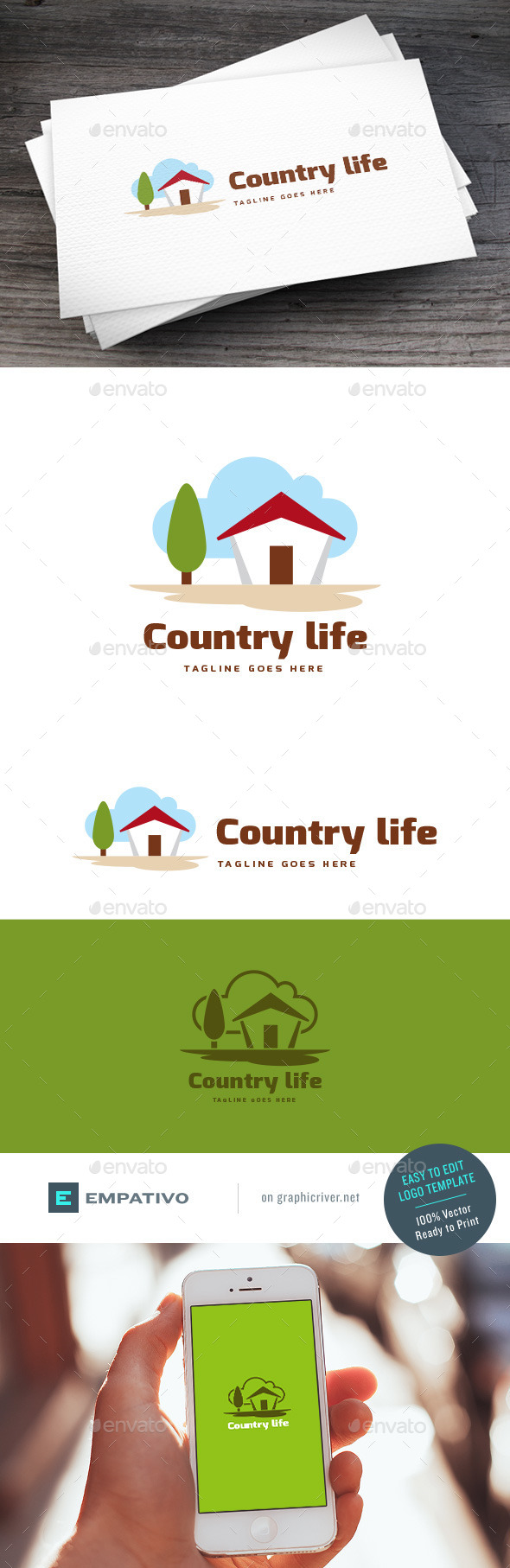 GraphicRiver Country Life Logo Template 11307377