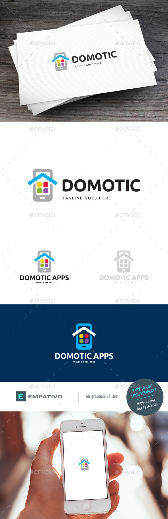 GraphicRiver Domotic Apps Logo Template 11307388