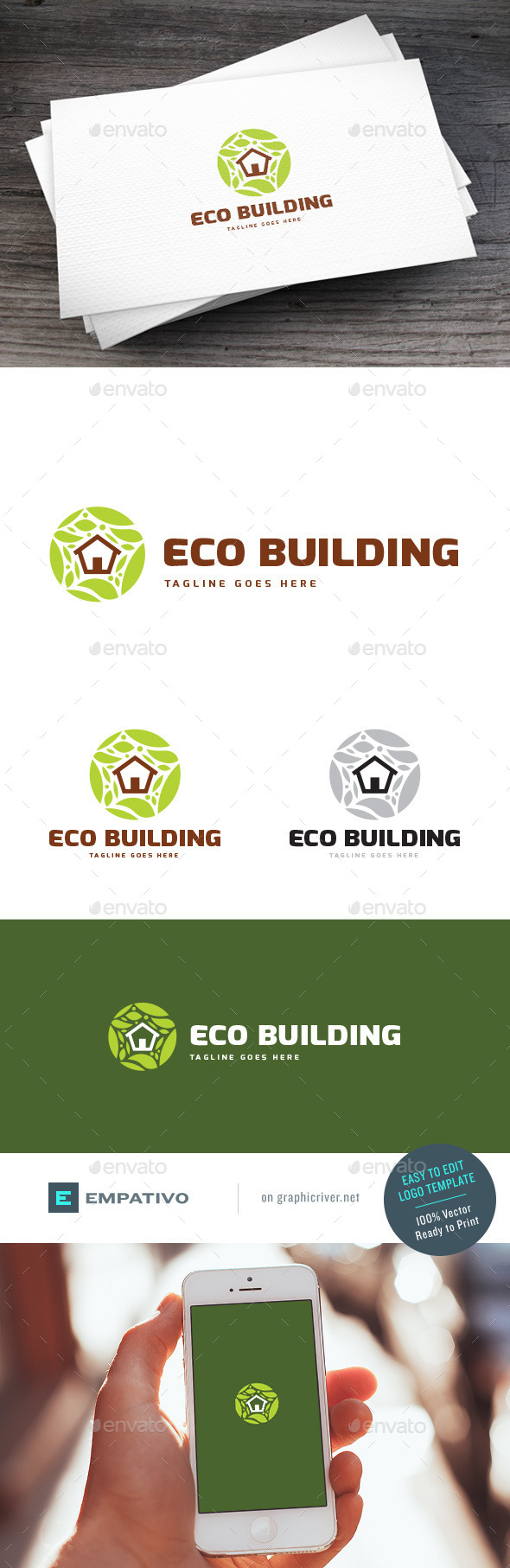 GraphicRiver Eco Building Logo Template 11307393