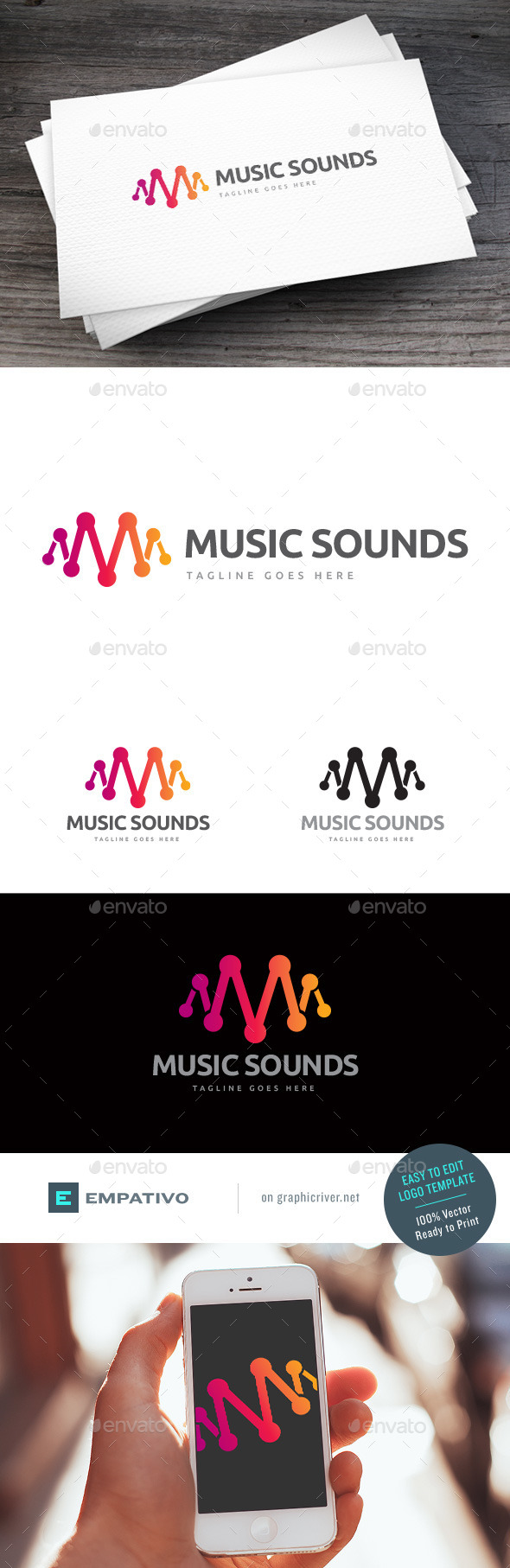 GraphicRiver Music Sounds Logo Template 11307412