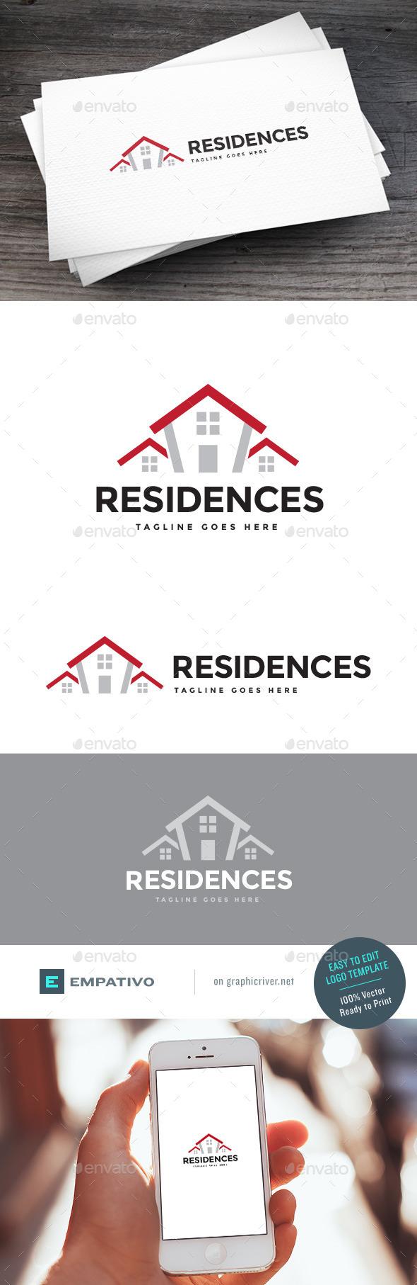 GraphicRiver Residences Logo Template 11307417