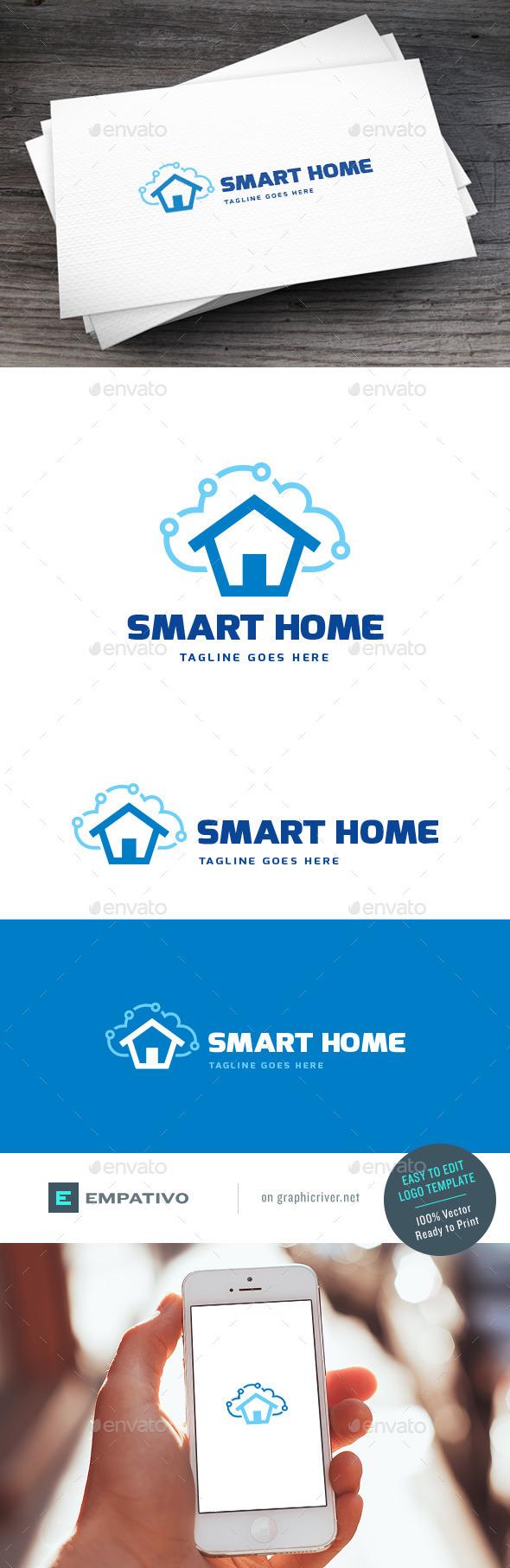 GraphicRiver Smart Home Logo Template 11307418