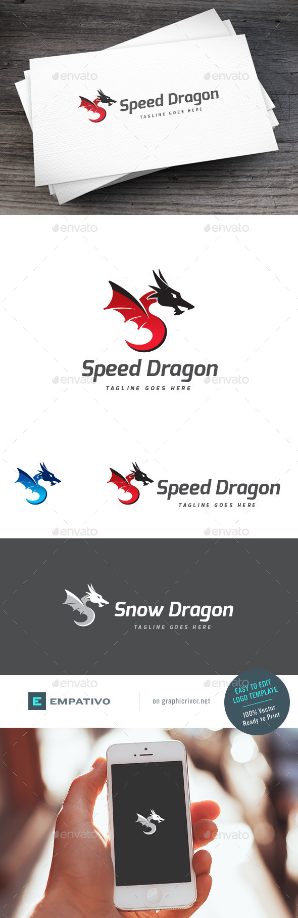 GraphicRiver Speed Dragon Logo Template 11307421