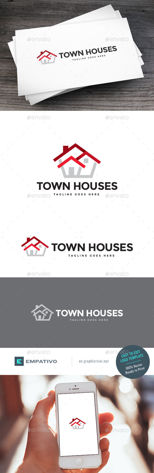 GraphicRiver Town Houses Logo Template 11307426