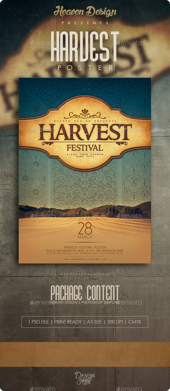 GraphicRiver Harvest Poster 11307602