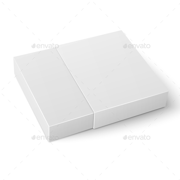 GraphicRiver White Sliding Cardboard Box Template 11307614