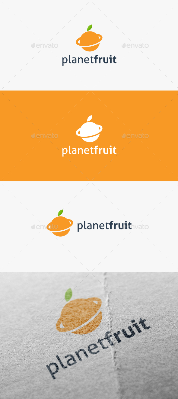 GraphicRiver Planet Fruit Logo Template 11307633