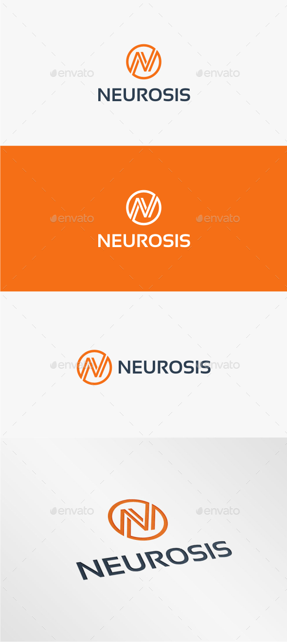 GraphicRiver Neurosis Letter N Logo Template 11307638