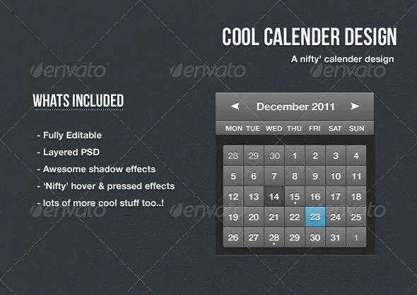 GraphicRiver Cool Calendar Design 1132773