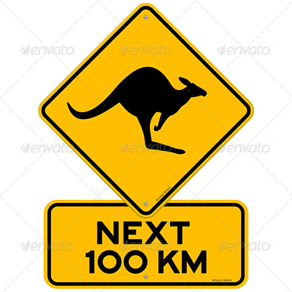 GraphicRiver Kangaroos Next 100 km 1132963