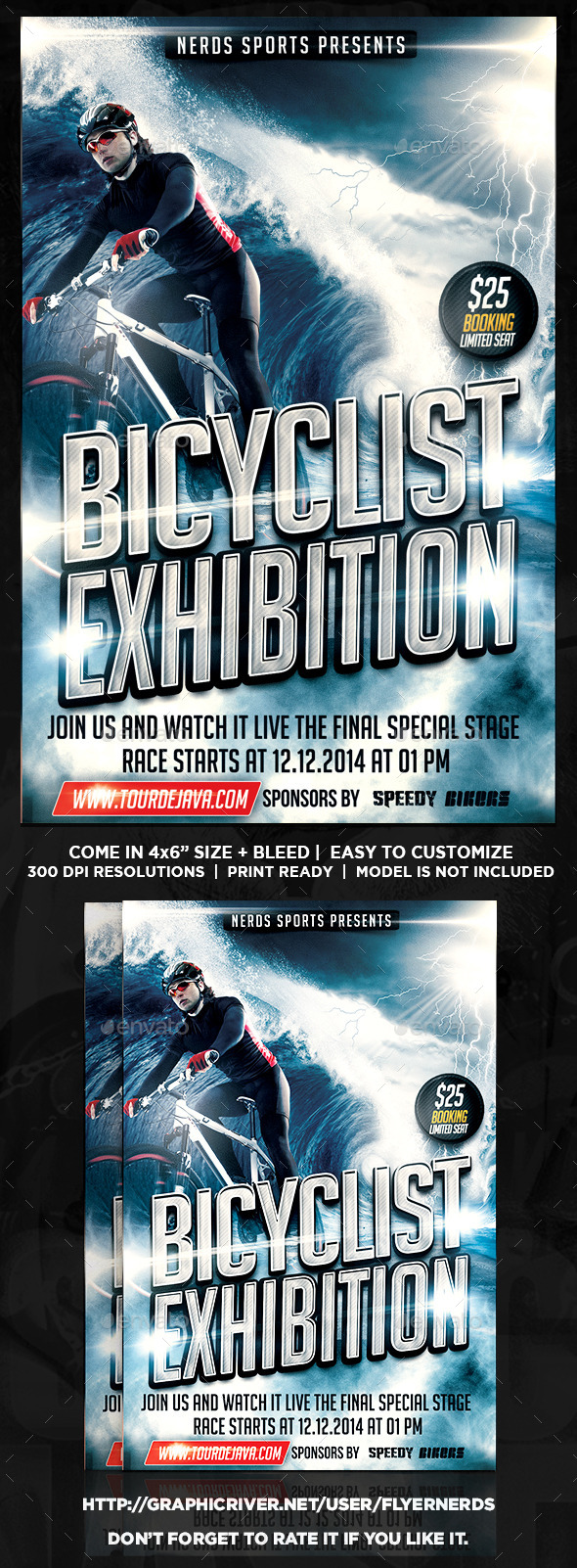 GraphicRiver Bicyclist Exhibition Sports Flyer 11307660