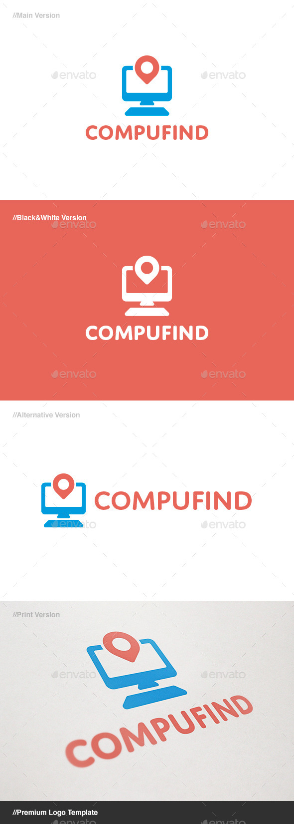 GraphicRiver Compu Find Logo 11307873
