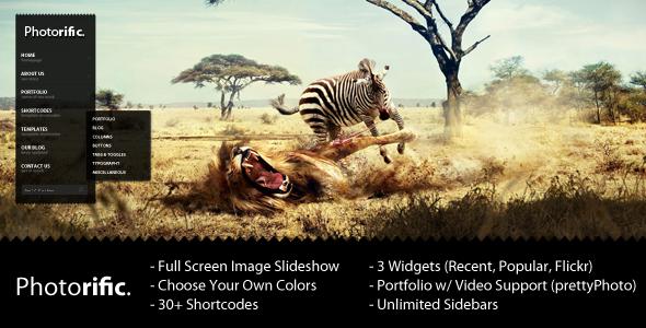 Photorific - Photography WordPress Theme - Theme preview