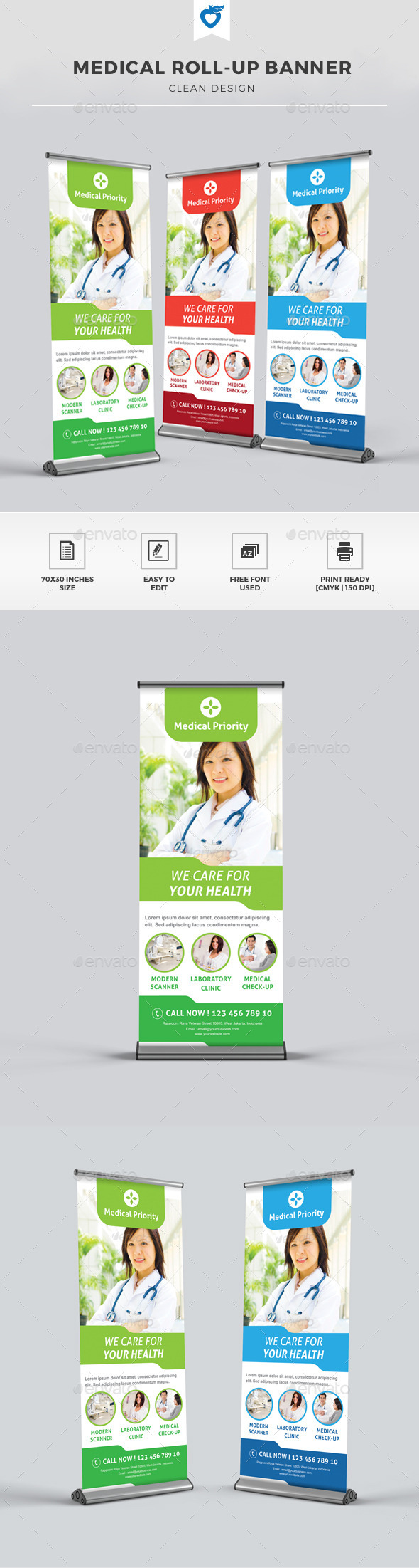 GraphicRiver Medical Roll-up Banner 11275867