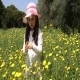 Girl Gathering Flowers - VideoHive Item for Sale