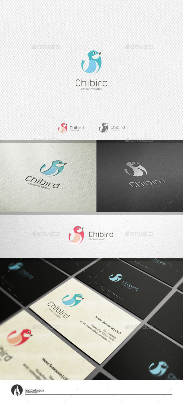 GraphicRiver Chibird Logo 11308668